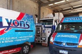 Lyons Auto Air Conditioning and Auto Electrical | Mobile Service Vans