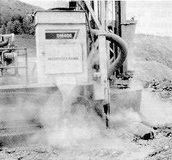 dust-from-rock-drilling