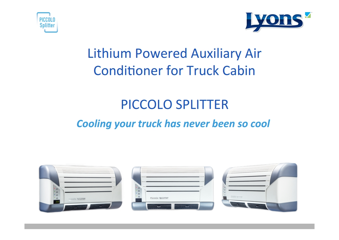 DC Lithium Powered Truck bunk split AC air conditioner